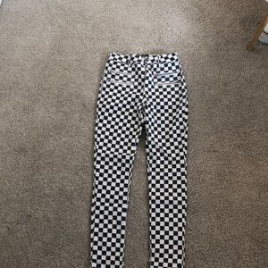 Urban outfitters checkered jeans